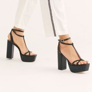 Free People Vegan Sophia Platform Black Shoes